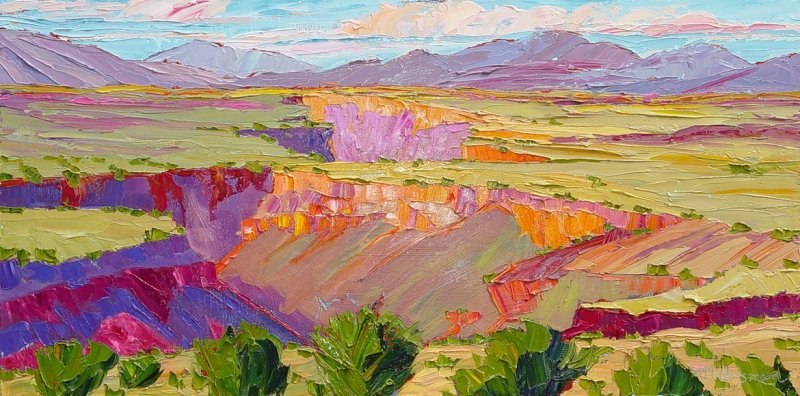 Afternoon Light at the Gorge, 18x36